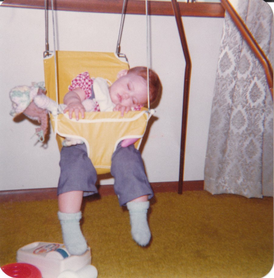And sometimes your daughter falls asleep in her swing, but probably not as often as you would like her to.