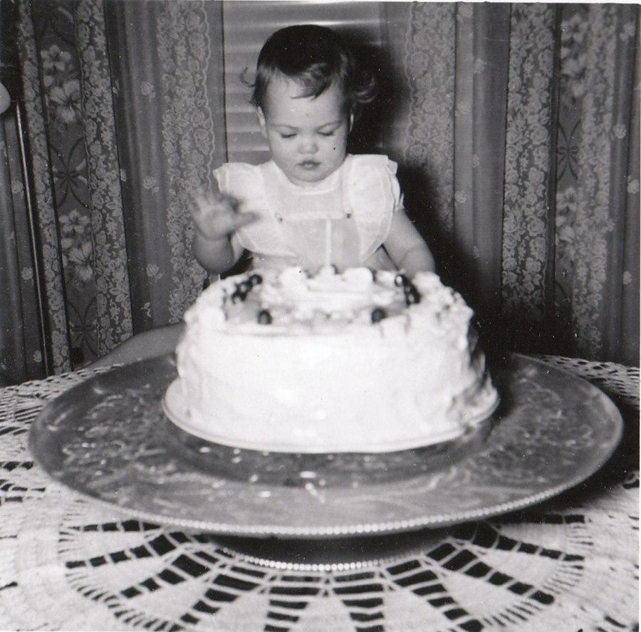 Mom's first birthday.