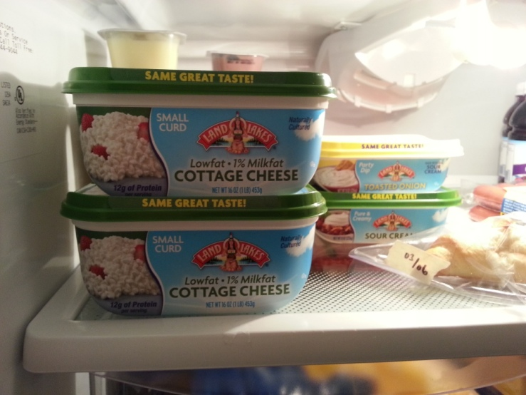 I find myself eating more cottage cheese, simply so I take it out of the fridge and smile.