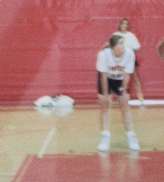 My final season on the court. That's me with my hands on my knees. Trust me, I'm not preparing to get into some sort of special rebounding stance. I was probably so winded, I couldn't stand up straight.