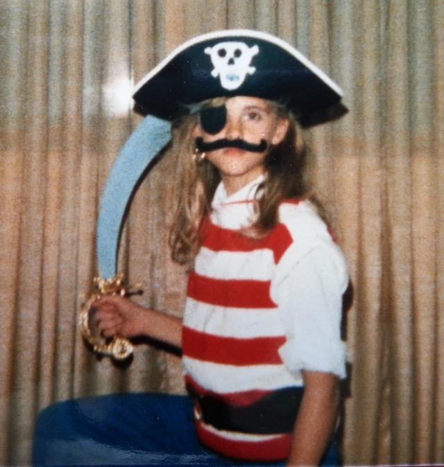 The pirate portrait pose.