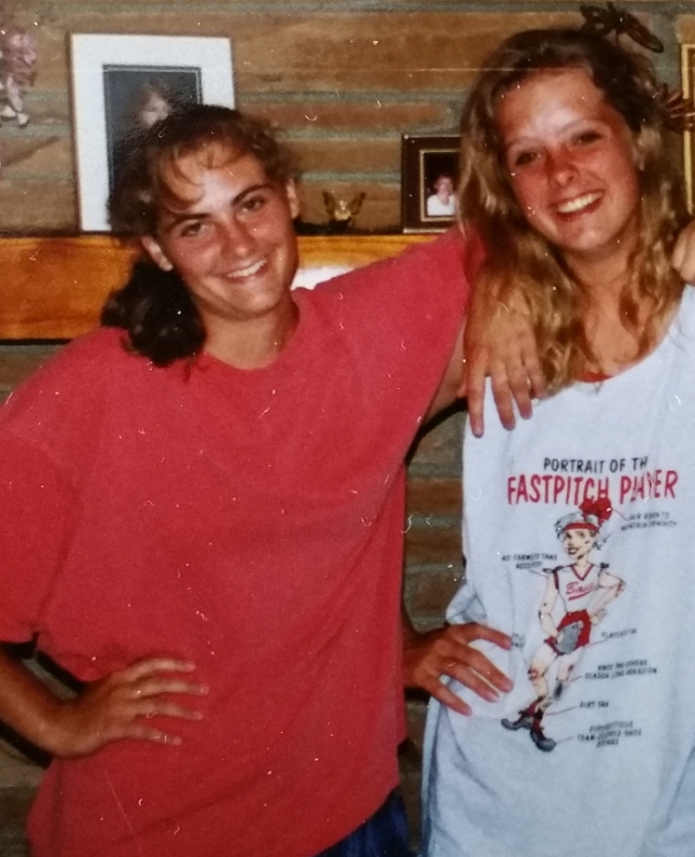 Me and Heidi after one of our last road trips as teammates.