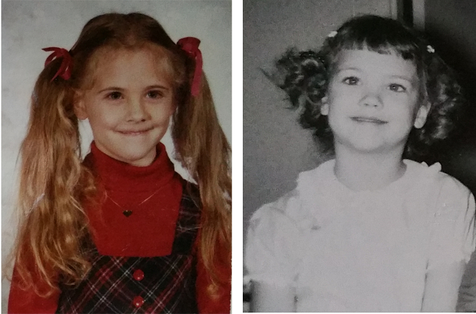 Five years old and smiling – no doubt about starting kindergarten. We both loved school.
