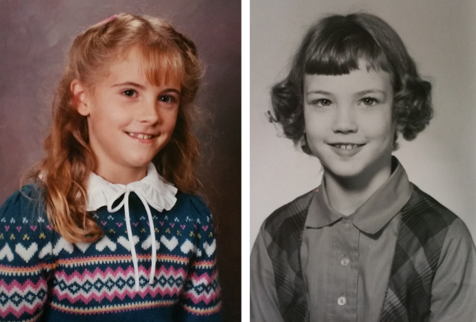 Second grade. Collared shirts and patterned sweaters and still showing our teeth when we smiled.