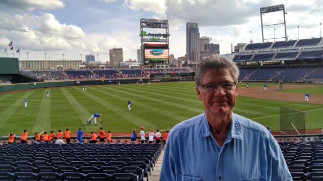 Dad at the College World Series this year.