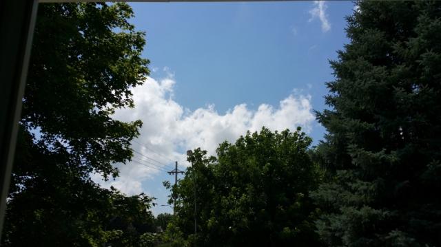 clouds one minute