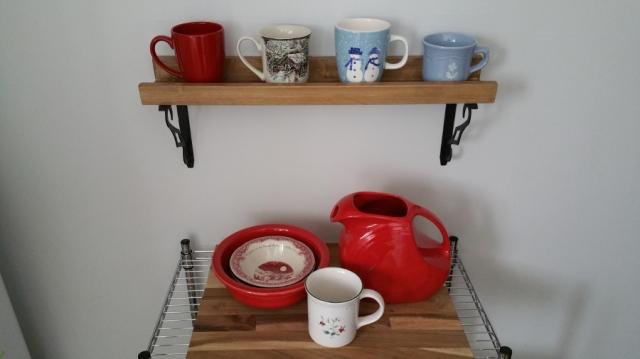 mom's mug shelf